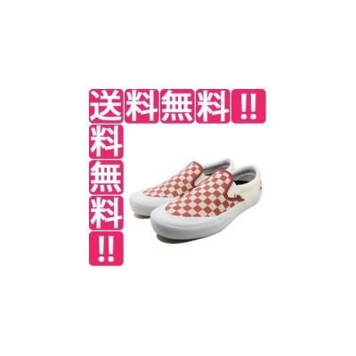 VANS バンズ スリッポン プロ (Checkerboard) [サイズ:29cm(US11)] [カラー:ミネラルレッド] #VN0A347VV0I VANS SLIP-ON PRO