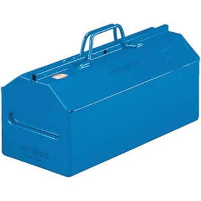 トラスコ中山 TRUSCO 山型中皿付工具箱 461X201X261 ブルー ドットコム専用 L450B