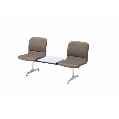 ロビーチェア 2人掛け+テーブル 背付 合成皮革張り (国産) RD-52C(合成皮革)
