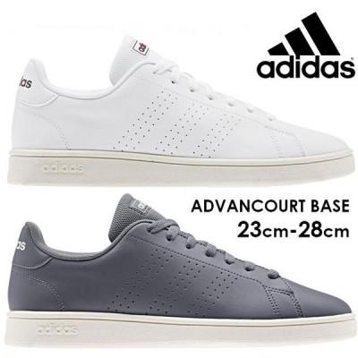 アディダス adidas アドバンコート ベース スニーカー メンズ レディース ローカット 運動靴 ホワイト 白 オニキス EE7695 EE7696