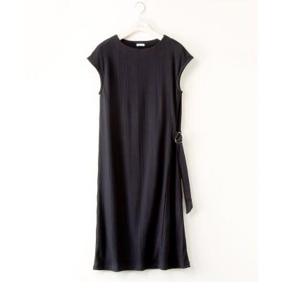 【大きいサイズ】 アシメバックルカットソーワンピース ワンピース, plus size dress
