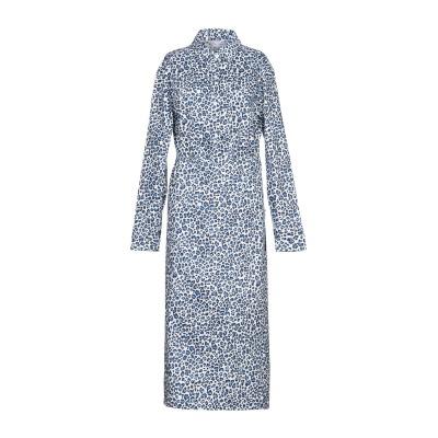 WEILI ZHENG 7分丈ワンピース・ドレス ブルー M コットン 100% 7分丈ワンピース・ドレス