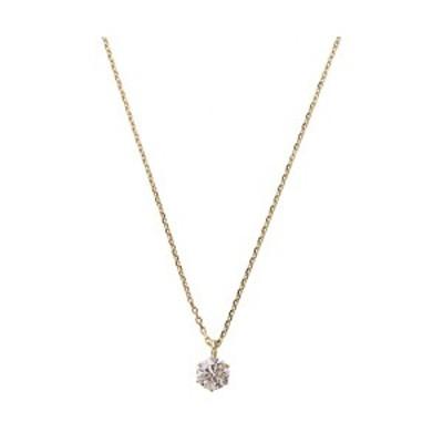 K18ピンクゴールド 天然ダイヤモンドネックレス ダイヤ0.2CTネックレス