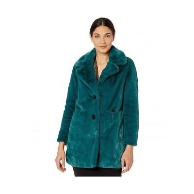 Sam Edelman サムエデルマン レディース 女性用 ファッション アウター ジャケット コート Faux Fur Notch Collar Coat - Deep Green