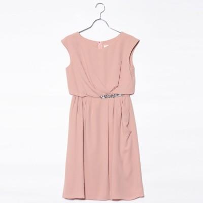ジュネビビアン Genet Vivien ビジュー付きドレス (ピンク)