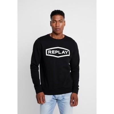 リプレイ パーカー・スウェットシャツ メンズ アウター Sweatshirt - black