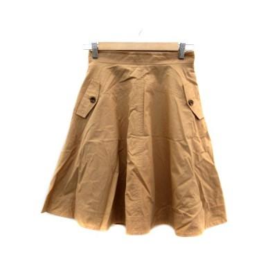 【中古】ダズリン dazzlin スカート フレア ひざ丈 M 茶色 ブラウン /HO46 レディース 【ベクトル 古着】
