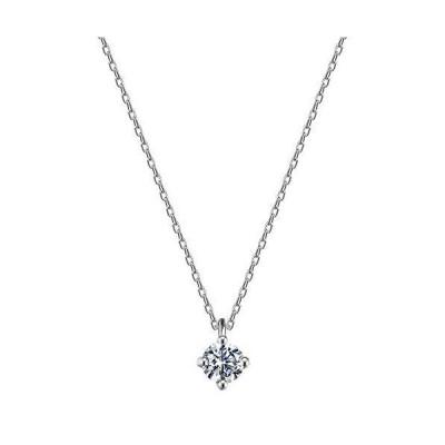 ネックレス レディース ネックレス ペンダント 一粒 CZダイヤモンド 金属アレルギー対応 925 シルバー ファッション ジュエリー 女性のプレゼン