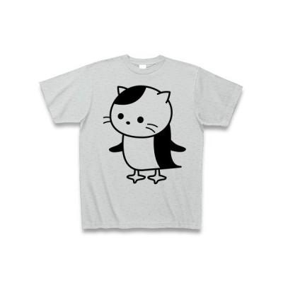 ペンギンねこ Tシャツ(グレー)