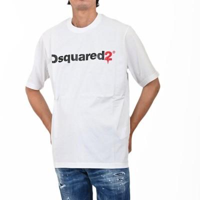 ディースクエアード 半袖 Tシャツ DSQUARED2 S74GD0565 S22427 100 ホワイト メンズ