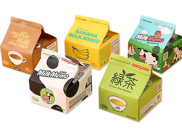 牛奶盒造型抽取式便條紙(1入) 款式可選【D801170】
