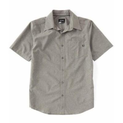 マーモット メンズ シャツ トップス Aerobora Solid Stretch Short-Sleeve Woven Shirt Cinder