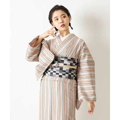 【ふりふ】【ふりふWEB限定】洗える!セレクト着物「レトロストライプ」(¥10,000+tax)