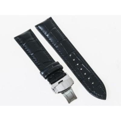 ファッション シンプル 腕時計 交換用 パーツ 合金製 Dバックル バタフライバックル/ダブルタイプ/幅24mm#ブラック【新品/送料込み】