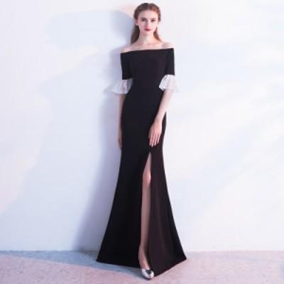 結婚式 ドレス パーティー ロングドレス 二次会ドレス ウェディングドレス お呼ばれドレス 卒業パーティー 成人式 同窓会hs121