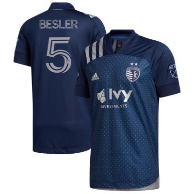 アディダス ユニフォーム トップス メンズ Matt Besler Sporting Kansas City adidas 2020 Swiss Dots Authentic Jersey Navy