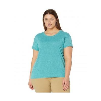 Prana プラナ レディース 女性用 ファッション Tシャツ Plus Size Cozy Up T-Shirt - Azurite Heather