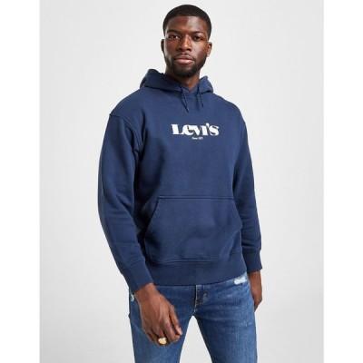 リーバイス Levis メンズ パーカー トップス modern vintage logo hoodie blue