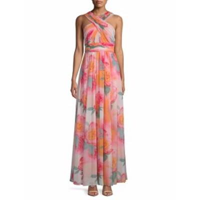 カルバンクライン レディース ワンピース Floral Crepe Dress