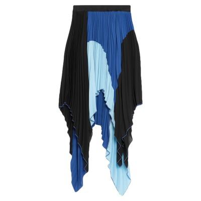 ジャストカヴァリ JUST CAVALLI ひざ丈スカート ブルー 40 ポリエステル 100% ひざ丈スカート