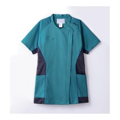asics CHM356-49 半袖スクラブ(レディス) ナースウェア・白衣・介護ウェア