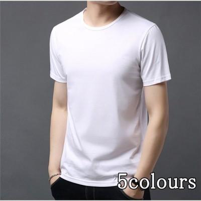SALE! Tシャツ メンズ 丸首 半袖  無地 コットン かっこういい 通気 カジュアル 男性 ストレッチ 真夏