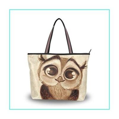 【新品】JSTEL Women Large Tote Top Handle Shoulder Bags Cute Owl Patern Ladies Handbag(並行輸入品)