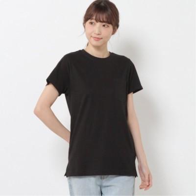 選べる色・柄◎USAコットン使用 ポケット付きTシャツ ブラック M L LL