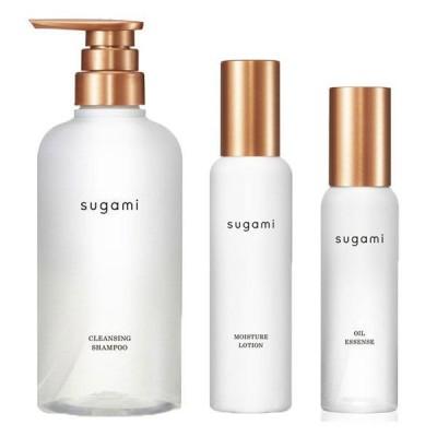 送料無料 スガミ(SUGAMI)スキンケア発想ヘアケア シャンプー+ヘアミスト+ヘアオイル(よりダメージが気になる方へ)ユニリーバ