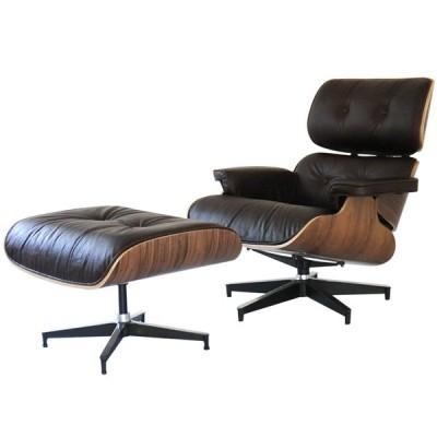 イームズラウンジチェア オットマン オイルワックスレザー仕様 ビンテージダークブラウン×ウォールナット ソファ ソファー sofa 椅子 イス eames
