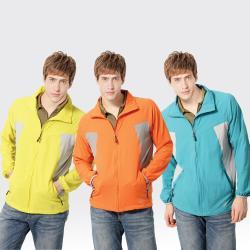 【SAMLIX山力士】男 抗UV 輕薄 休閒 風衣 外套#MJ511( 橘色/淺灰.藍色/淺灰.芥黃/淺灰)
