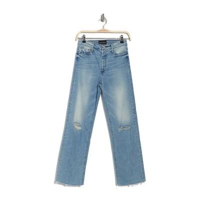 ブラックオーキッド レディース デニムパンツ ボトムス Marisa Relaxed Fray Straight Leg Jeans SUPERSTAR