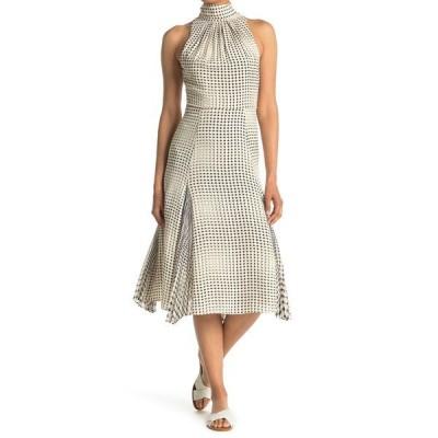 レイス レディース ワンピース トップス Jenna Spot Print Midi Dress BLACK/WHITE