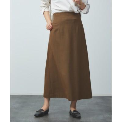 Rouge vif la cle / ウール混セミフレアスカート WOMEN スカート > スカート