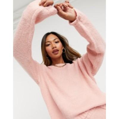 エイソス レディース ニット・セーター アウター ASOS DESIGN coordinating oversized sweater in pink Pink