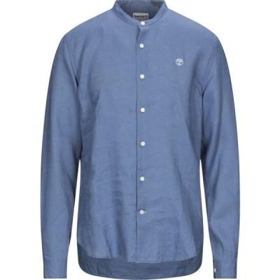 ティンバーランド TIMBERLAND メンズ シャツ トップス linen shirt Pastel blue