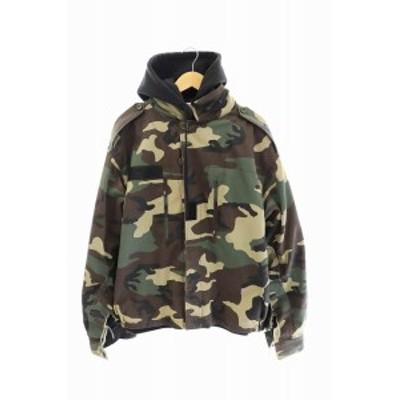【中古】ヴェトモン ベトモン VETEMENTS 18AW Commando Jacket ドッキング パーカー MAH18JA41 M ☆AA★ 210405 0480