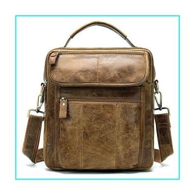 Men's Shoulder Bag First Layer Cowhide Casual Business Handbag Retro Men's Bag Briefcase【並行輸入品】