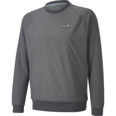 プーマ メンズ パーカー・スウェット アウター PUMA Men's Runway Crew Golf Sweater Quiet Shade Heather