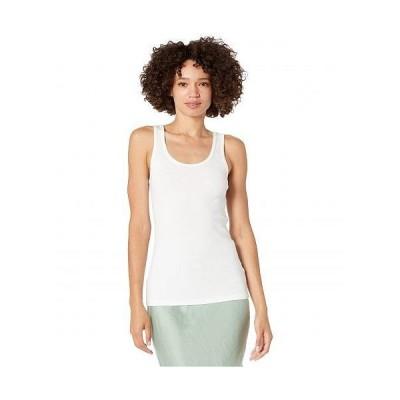 Michael Stars ミッシェルスターズ レディース 女性用 ファッション トップス シャツ Marian Shine Scoop Neck Tank Top - White