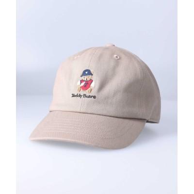 Right-on / テディベア刺繍キャップ KIDS 帽子 > キャップ