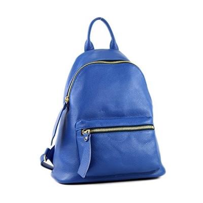 modamoda de - ital. Leather Backpack Ladies Backpack Rucksack Bag Citybag Leather T171A, Colour:blue 並行輸入品