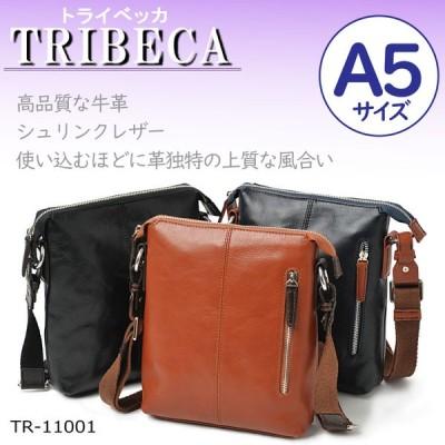 TRIBECA トライベッカ ショルダーバッグ 斜め掛け A5 TR-11001 シュリンクレザー メンズ 人気 ブランド バッグ 牛革 革 鞄 かばん カバン