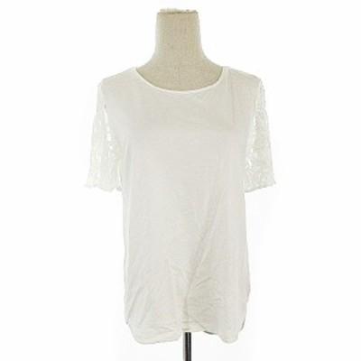 【中古】ノーリーズソフィー NOLLEY'S sophi Tシャツ カットソー 半袖 レース 38 白 ホワイト /AAM16 レディース