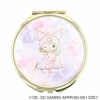 サンリオ クロミ KUROMI コンパクトミラー 手鏡 拡大鏡付 SR-M0032-PU 手鏡