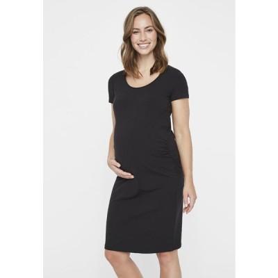 レディース ファッション MLLEA DRESS - Jersey dress - black