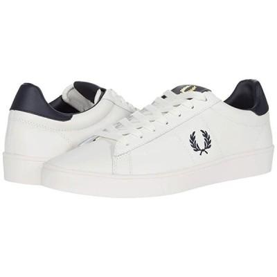 フレッドペリー Spencer Leather メンズ スニーカー 靴 シューズ Porcelain/Navy