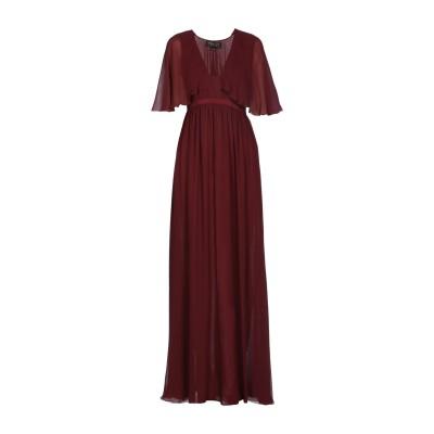 ジャンバティスタ ヴァリ GIAMBATTISTA VALLI ロングワンピース&ドレス レンガ 38 シルク 100% ロングワンピース&ドレス