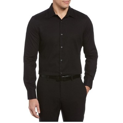 ペリーエリス メンズ シャツ トップス Big & Tall Solid Dobby Water-Repellent Long-Sleeve Woven Shirt