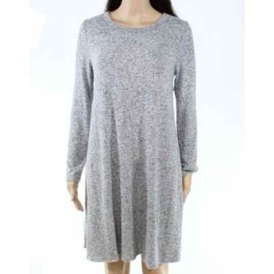 ファッション ドレス Potters Pot Womens Dress Gray Size Medium M Sweater Marled-Knit